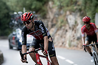 crash victim Steff Cras (BEL/Lotto-Soudal)<br /> <br /> 7th La Course by Tour de France 2020 <br /> 1 day race from Nice to Nice (96km)<br /> <br /> ©kramon