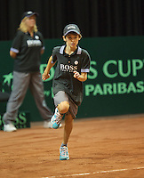 15-sept.-2013,Netherlands, Groningen,  Martini Plaza, Tennis, DavisCup Netherlands-Austria, fourth rubber,  Ballboy <br /> Photo: Henk Koster