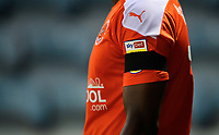 Blackpool's Sullay Kaikai wearing a black armband in tribute to Warren Green, Blackpool's academy manager, who died aged 46<br /> <br /> Photographer Chris Vaughan/CameraSport<br /> <br /> The EFL Sky Bet League One - Peterborough United v Blackpool - Saturday 21st November 2020 - London Road Stadium - Peterborough<br /> <br /> World Copyright © 2020 CameraSport. All rights reserved. 43 Linden Ave. Countesthorpe. Leicester. England. LE8 5PG - Tel: +44 (0) 116 277 4147 - admin@camerasport.com - www.camerasport.com