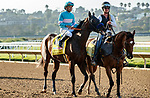 DEL MAR, CA  SEPTEMBER 6: #4 Pinehurst, ridden by Mike Smith, post parade of the Runhappy Del Mar Futurity (Grade 1) on September 6, 2021 at Del Mar Thoroughbred Club in Del Mar, CA. (Photo by Casey Phillips/Eclipse Sportswire/CSM)