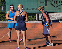 Etten-Leur, The Netherlands, August 23, 2016,  TC Etten, NVK, Toss between Eva Haslinghuis (L)	and 	<br /> Saar Schuling (NED)<br /> <br /> Photo: Tennisimages/Henk Koster