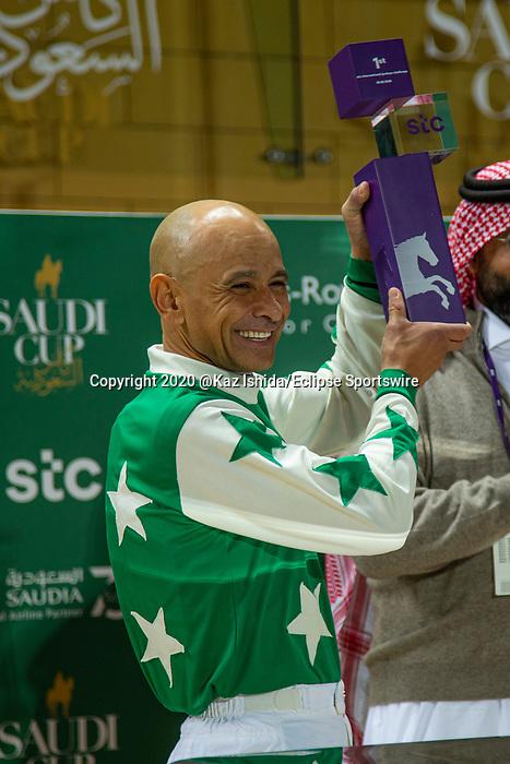 RIYADH,SAUDI ARABIA-FEB 28: Mike Smith won the International Jockeys Challenge at King Abdulaziz Racetrack on February 28,2020 in Riyadh,Saudi Arabia. Kaz Ishida/Eclipse Sportswire/CSM