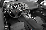 High angle dashboard view of a 2008 Pontiac Solstice