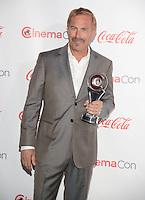 LAS VEGAS, NV - March 27: Cinema Icon Award winner Kevin Costner at the CinemaCon Big Screen Achievement Awards on March 27, 2014 in Las Vegas, Nevada. © Kabik/ Starlitepics