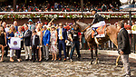 SARATOGA SPRINGS, NY - AUGUST 25: Marley's Freedom, #7, ridden by jockey Mike Smith, wins the Ballerina Stakes on Travers Stakes Day at Saratoga Race Course on August 25, 2018 in Saratoga Springs, New York. (Photo by Sue Kawczynski/Eclipse Sportswire/Getty Images)