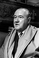 L'organiste de renommee internationale, Edward George Power Biggs,<br /> le 18 avril 1969<br /> <br /> Photo : Photo Moderne - Agence Quebec Presse