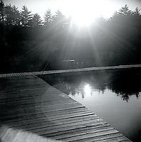 Sunlight on pier<br />