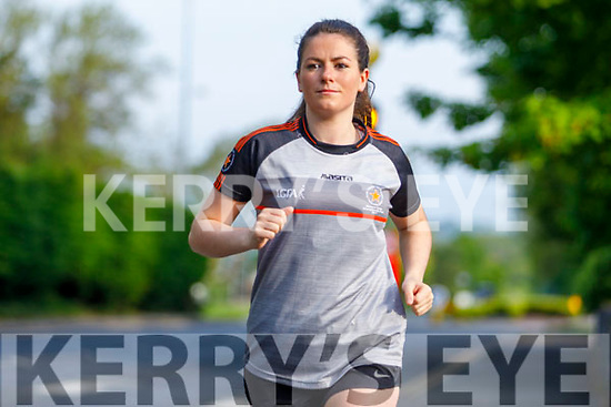 Catriona Dillon from the Finuge St Senans LGFA runningher 5km fundraiser for Pieta House's Sunrise Appeal on Saturday morning in Tralee