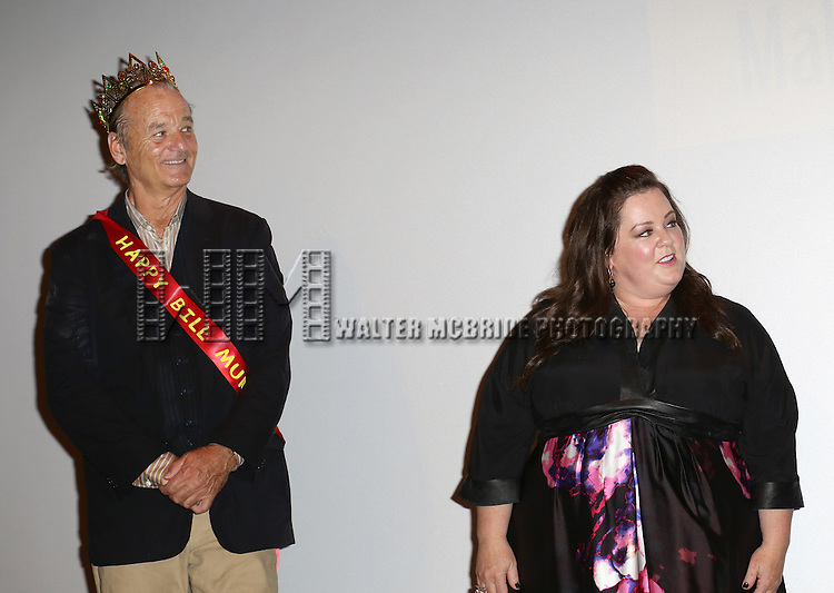 Bill Murray and Melissa McCarthy during the 'St. Vincent' premiere presentation during the 2014 Toronto International Film Festival at Princess of Wales Theatre on September 5, 2014 in Toronto, Canada.
