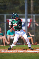 Dartmouth Big Green center fielder Trevor Johnson (36) at bat during a game against the Eastern Michigan Eagles on February 25, 2017 at North Charlotte Regional Park in Port Charlotte, Florida.  Dartmouth defeated Eastern Michigan 8-4.  (Mike Janes/Four Seam Images)