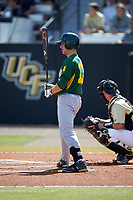 Siena Saints center fielder Dan Swain (22) at bat during a game against the UCF Knights on February 21, 2016 at Jay Bergman Field in Orlando, Florida.  UCF defeated Siena 11-2.  (Mike Janes/Four Seam Images)