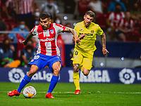 29th August 2021; Estadio Wanda Metropolitano, Madrid, Spain; La Liga Football, Atletico de Madrid versus Villarreal Club de Futbol; Correa crosses for Luis Suarez of Atletico to score the first goal