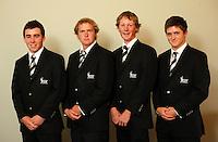 NZ men, from left, Keelan Kilpatrick, Vaughan McCall, Tim Leonard and Mark O'Malley. Trans-Tasman NZ teams at Royal Wellington Golf Club, Wellington, New Zealand on Sunday, 28 March 2010. Photo: Dave Lintott / lintottphoto.co.nz
