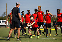 BRADENTON, FL - September 21, 2017: The U.S. Men's U-17 National team train prior to their World Cup at IMG Academy.