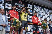 Podium:<br /> <br /> 1st place: Dylan Groenewegen (NED/Lotto NL - Jumbo)<br /> 2nd place: John Degenkolb (DEU/Trek Segafredo)<br /> 3th place: Jasper Stuyven (BEL/Trek Segafredo)<br /> <br /> 103th Kampioenschap van Vlaanderen 2018 (UCI 1.1)<br /> Koolskamp – Koolskamp (186km)