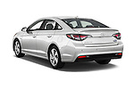 Car pictures of rear three quarter view of 2016 Hyundai Sonata-Plug-in-Hybrid Limited 4 Door Sedan Angular Rear