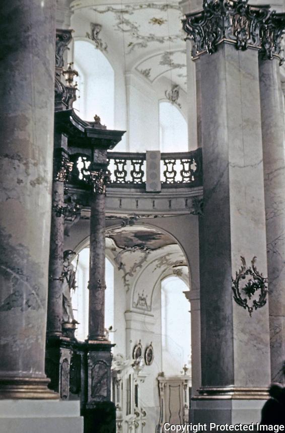 Detail of 14 Helpers Basilica Church, Bamberg, Germany. Designed by Balthasar Neumann.