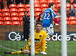Dundee Utd v St Johnstone..26.12.12      SPL.Peter Pawlett celebrates the saints equaliser which went in off Brian McLean for an own goal .Picture by Graeme Hart..Copyright Perthshire Picture Agency.Tel: 01738 623350  Mobile: 07990 594431