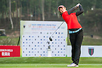 Ashiey Lu Jen Wen of Malaysia tees off at tee one during the 9th Faldo Series Asia Grand Final 2014 golf tournament on March 18, 2015 at Mission Hills Golf Club in Shenzhen, China. Photo by Xaume Olleros / Power Sport Images