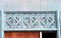 Los Angeles: Wiltern Theater--Window detail.  Photo '82.