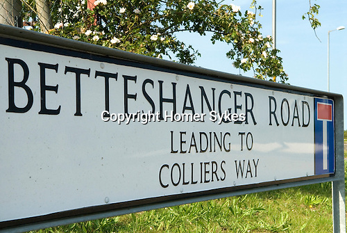 Bettshanger Kent UK. Kent coalfields colliery closed down in the 1989. Largest colliery in Kent.