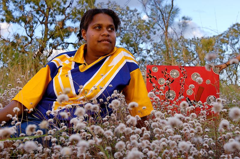 Baressa Jackonia, artist, Napranum, Cape York Peninsula.