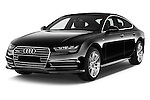2015 Audi A7 S Line 5 Door Hatchback Angular Front stock photos of front three quarter view