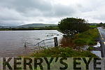 Some of the extent of the flooding at the Inny Bridge on the N70 Ring of Kerry Road where the river bust its banks and created this temporary lake.