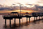 Seattle Waterfront Elliott Bay Marina at Sunset