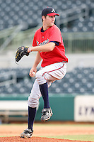 Atlanta Braves minor league pitcher Zeke Spruill (22) vs. the Houston Astros during an Instructional League game at Osceola County Stadium in Kissimmee, Florida;  October 14, 2010.  Photo By Mike Janes/Four Seam Images