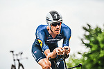 Tim Declercq (BEL) Deceuninck-Quick Step in action during Stage 5 of the 2021 Tour de France, an individual time trial running 27.2km from Change to Laval, France. 30th June 2021.  <br /> Picture: A.S.O./Charly Lopez | Cyclefile<br /> <br /> All photos usage must carry mandatory copyright credit (© Cyclefile | A.S.O./Charly Lopez)