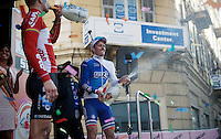 champaign party for race winner Arnaud Démare (FRA/FDJ) after winning the 107th Milano-Sanremo (2016)