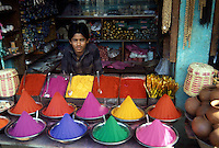 Merchant offering dyes.