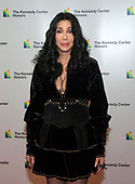 Cher arrives for the formal Artist's Dinner honoring the recipients of the 41st Annual Kennedy Center Honors hosted by United States Deputy Secretary of State John J. Sullivan at the US Department of State in Washington, D.C. on Saturday, December 1, 2018. The 2018 honorees are: singer and actress Cher; composer and pianist Philip Glass; Country music entertainer Reba McEntire; and jazz saxophonist and composer Wayne Shorter. This year, the co-creators of Hamilton writer and actor Lin-Manuel Miranda, director Thomas Kail, choreographer Andy Blankenbuehler, and music director Alex Lacamoire will receive a unique Kennedy Center Honors as trailblazing creators of a transformative work that defies category.<br /> Credit: Ron Sachs / Pool via CNP
