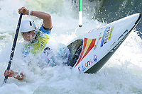 5th September 2021; Parc Olimpic del Segre, La Seu D'Urgell ICF Slalom World Cup, Women's Canoe Final;  Klara Olazabal (ESP)