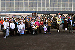 27 March 2010: Dean's Kitten with Cornelio Velasquez up in the winner's circle after taking the 39th running of the G2 Lane's End Stakes at Turfway Park in Florence, Kentucky.