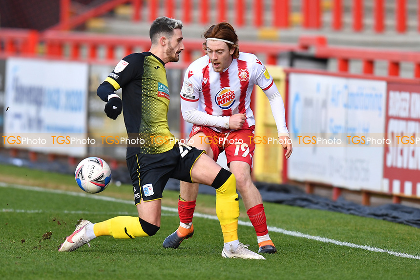 Arthur Read of Stevenage FC during Stevenage vs Barrow, Sky Bet EFL League 2 Football at the Lamex Stadium on 27th March 2021