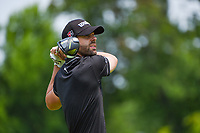 4th July 2021, Detroit, MI, USA;  Kevin Tway (USA) watches his tee shot on 2 during the Rocket Mortgage Classic Rd4 at Detroit Golf Club on July 4,
