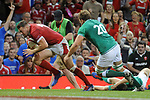 Wales Owen Lane scores his sides first try<br /> <br /> Photographer Ian Cook/CameraSport<br /> <br /> 2019 Under Armour Summer Series - Wales v Ireland - Saturday 31st August 2019 - Principality Stadium - Cardifff<br /> <br /> World Copyright © 2019 CameraSport. All rights reserved. 43 Linden Ave. Countesthorpe. Leicester. England. LE8 5PG - Tel: +44 (0) 116 277 4147 - admin@camerasport.com - www.camerasport.com
