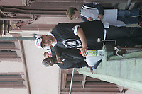 Head Coach Mike Jones gut gelaunt mit Mike Barr (Punter, beide Frankfurt Galaxy)
