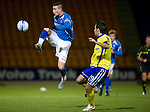 St Johnstone v Kilmarnock..28.12.11   SPL .Marcus Haber gets above Manuel Pascali.Picture by Graeme Hart..Copyright Perthshire Picture Agency.Tel: 01738 623350  Mobile: 07990 594431