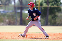 Washington Nationals minor league outfielder Bryce Harper #34 runs the bases during a spring training game against the Baltimore Orioles at the Spacecoast Stadium Training Complex on March 27, 2011 in Melbourne, Florida.  Photo By Mike Janes/Four Seam Images