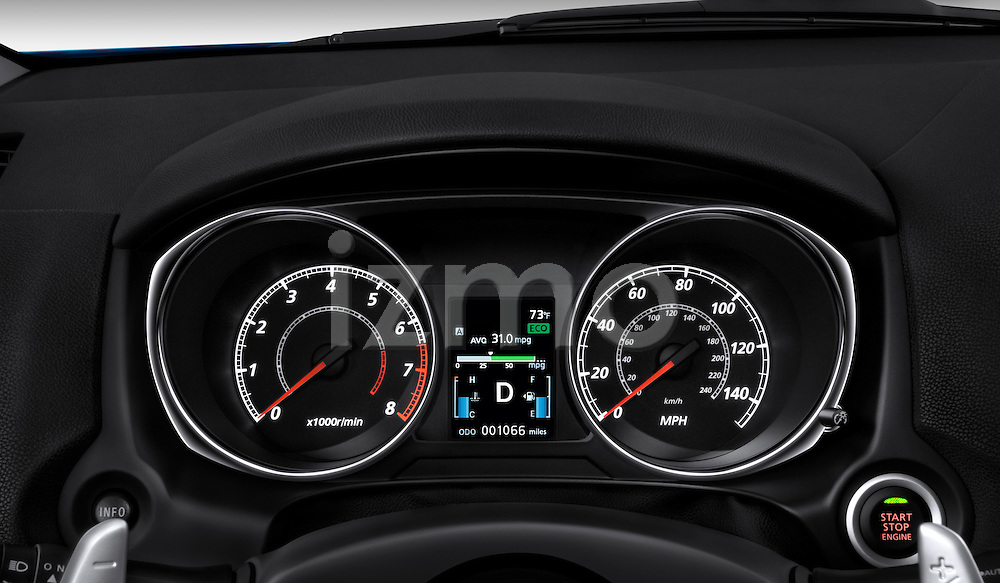 Instrument panel close up detail view of a 2012 Mitsubishi Outlander Sport