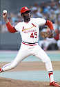 St. Louis Cardinals Bob Gibson (50) in action during a game from his career with the St. Louis Cardinals. Bob Gibson played for 17 years all with the Cardinals and was inducted to the Baseball Hall of Fame in 1981.