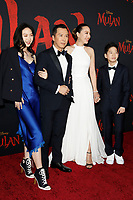"LOS ANGELES - MAR 9:  Jasmine Yen, Donnie Yen, Cissy Wang, James Yen at the ""Mulan"" Premiere at the Dolby Theater on March 9, 2020 in Los Angeles, CA"