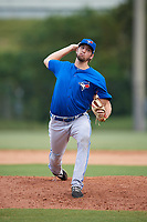 Toronto Blue Jays pitcher Colton Laws (28) delivers a pitch during an Instructional League game against the Philadelphia Phillies on September 30, 2017 at the Carpenter Complex in Clearwater, Florida.  (Mike Janes/Four Seam Images)