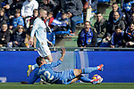 Getafe CF's Damian Suarez  and Celta de Vigo's Brais Mendez during La Liga match. February 09,2019. (ALTERPHOTOS/Alconada)