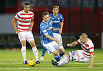 Hamilton Accies v St Johnstone...31.10.15  SPFL  New Douglas Park, Hamilton<br /> Grant Gillespie puts a nasty challenge in on Chris Kane<br /> Picture by Graeme Hart.<br /> Copyright Perthshire Picture Agency<br /> Tel: 01738 623350  Mobile: 07990 594431