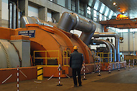 - AEM (Energetic Company of Milan), thermoelectrical turbogas power station, turbine room....- AEM (Azienda Energetica Milanese), centrale termoelettrica a turbogas, sala turbine..