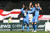 Wycombe's Mike Williamson celebrates scoring a goal with Tommy Doherty during Wycombe Wanderers vs Dagenham & Redbridge, Coca Cola League Division Two Football at Adams Park on 20th September 2008